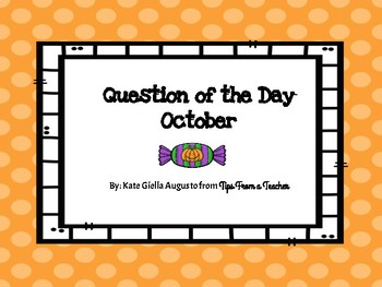 October Question of the Day Graph Prompts