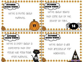 October Quick Writes