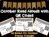 October Read Aloud QR Codes - October Listen to Reading Center