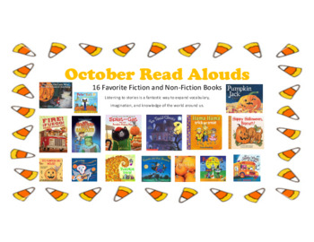 October Read Alouds - QR Codes