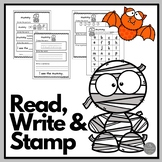 October: Read Write and Stamp! Set 3