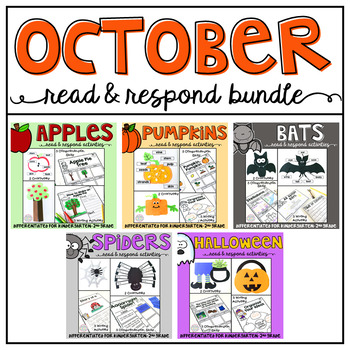 October: Reading Comprehension, Writing and Craftivities BUNDLE