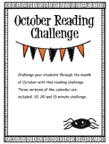 October 2018 Reading Challenge