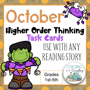 October Reading Choice Task Cards