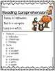 October Reading Comprehension