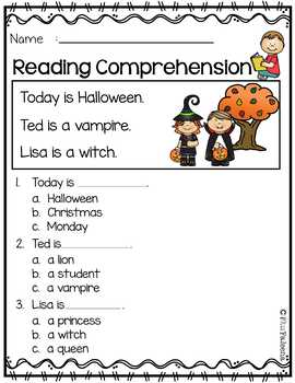 October Reading Comprehension