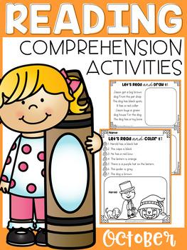 October Reading Comprehension Activities