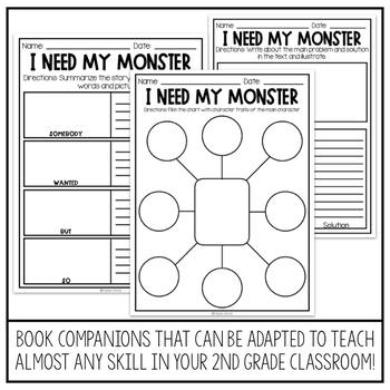 October Reading Comprehension | I Need My Monster Book Companion