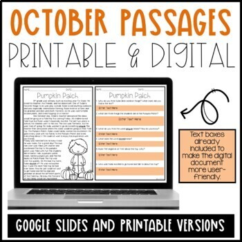 Leveled Text: October Reading Passages