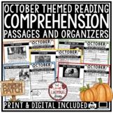 October Reading Comprehension Passages 4th Grade, 3rd Grade, 5th Grade