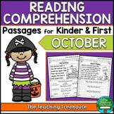 October Reading Comprehension Passages for Kindergarten and First Grade