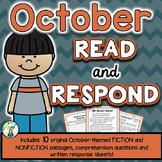 October Reading Comprehension & Written Response