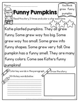 October Reading Fluency