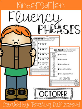 October Reading Fluency Phrases