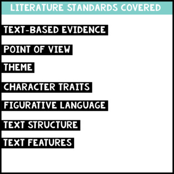 October Reading Homework for 4th & 5th PAPER-SAVING color text-based evidence