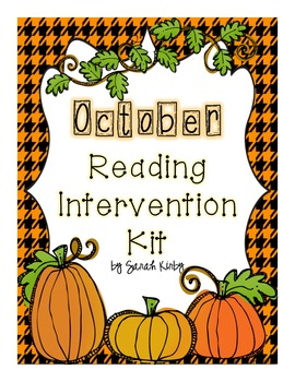 October Reading Intervention Kit