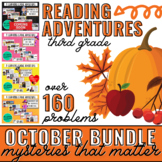 October Reading Learning League Adventures- 3rd Grade *GROWING BUNDLE*