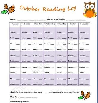 October Reading Log