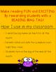October Reading Log & Brag Tags
