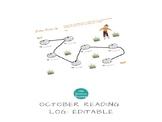 October Reading Log: Editable