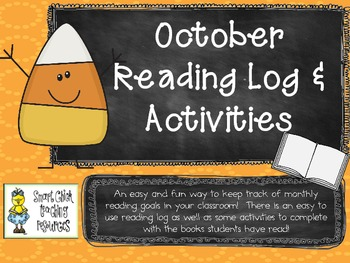 October Reading Log Packet for Intermediate Students