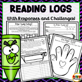 October Reading Logs | Reading Responses | Reading Challenge