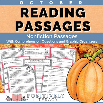 October Reading Passages - Nonfiction Text with Comprehens