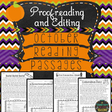 October Reading Passages: Proofreading and Editing