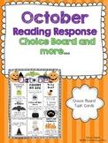 October Reading Response Choice Board