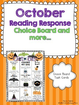 October Reading Response Choice Board