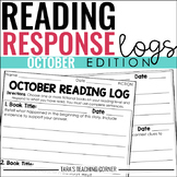 October Reading Response Logs (Grade 3)