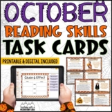 October Reading Skills and Enrichment Task Cards *Aligned