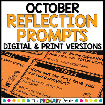 October Reflection Prompt Cards