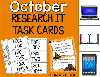 October: Research It Task Cards (FREEBIE)