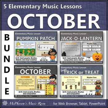 Elementary Music Lessons for October {Bundle}