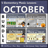 October Elementary Music Lessons {Bundle}