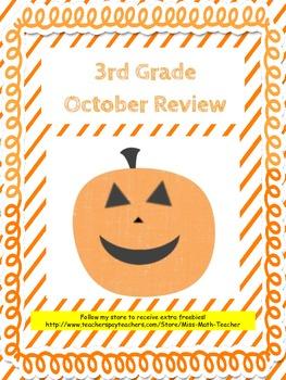 October Review 3rd Grade