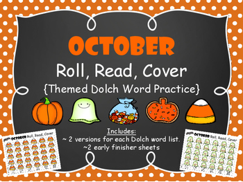 October Roll, Read, & Color {Dolch Sight Word Game}