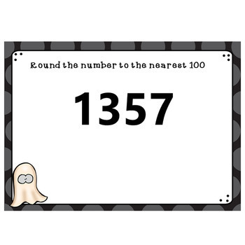 Halloween Rounding To The Nearest 100 Boom Cards