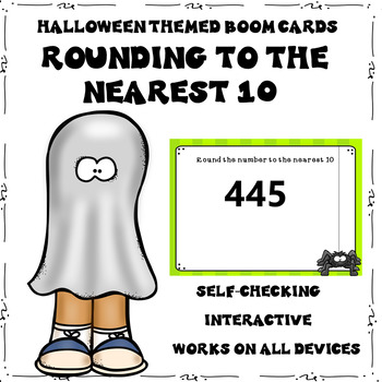 Halloween Rounding to the Nearest 10 Boom Cards