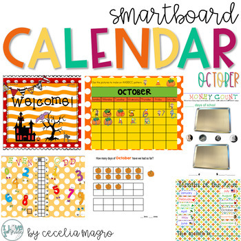 October SMARTBoard Calendar ***Common Core Aligned*** First Grade