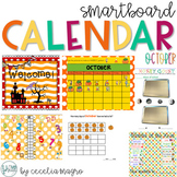 October SMARTBoard Calendar Morning Meeting First Grade