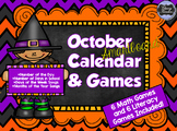 October SMARTboard Calendar and Games!