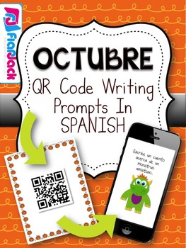 October SPANISH QR Code Writing Prompts