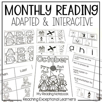 October SPED Adapted Reading Binder