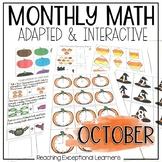 October Math Adapted Binder