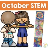 October STEM 10 Challenges Fall Autumn Halloween