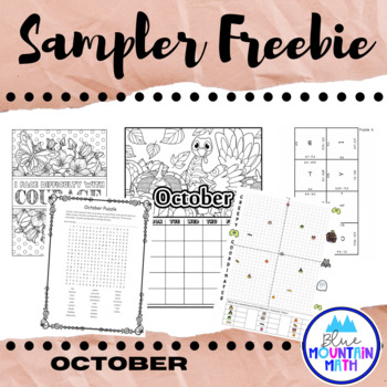 October Sampler Freebie