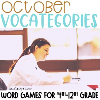 October Scattergories - Fall & Travel-Themed!