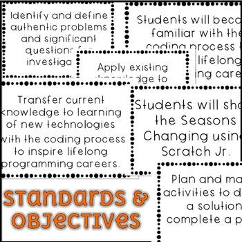 October Scratch Jr Lesson Plan - Seasons Changing